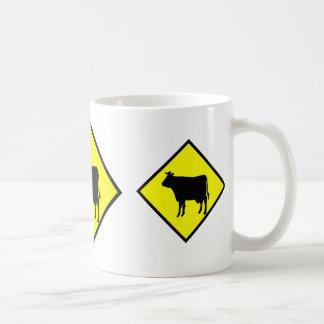 Cow Crossing Sign Coffee Mug