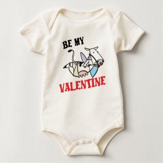 Cow Cupid Valentine Baby Creeper