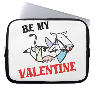 Cow Cupid Valentine Laptop Sleeve