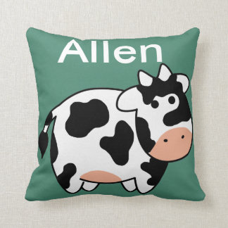 Cow Custom Name Pillow