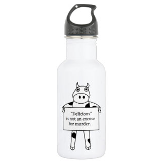 Cow:  Delicious is not... Stainless Steel Water Bottle
