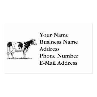 Cow Design Pencil Sketch Business Card