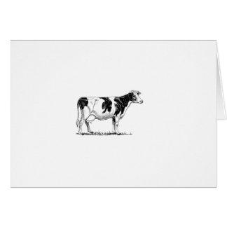 Cow Design Pencil Sketch Greeting Cards