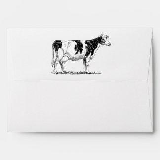 Cow Design Pencil Sketch Envelopes