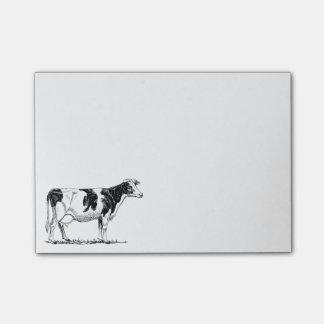 Cow Design Pencil Sketch Post-it Notes