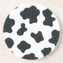 Cow design sandstone coaster
