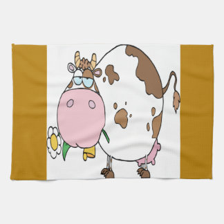 Cow Different Color White Towels