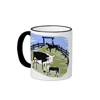 "cow, ""Don't get on the truck."" Coffee Mugs"