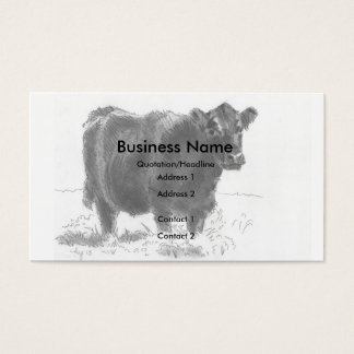 Cow Drawing Business Cards