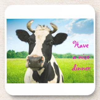 cow drink coaster