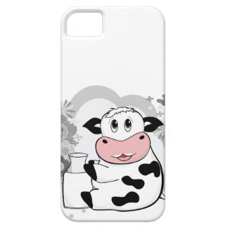 Cow drinking milk iPhone 5 cases