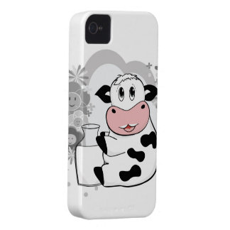 Cow drinking milk iPhone 4 cases