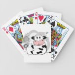 Cow drinking milk deck of cards