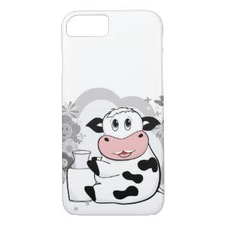 Cow drinking milk iPhone 8/7 case