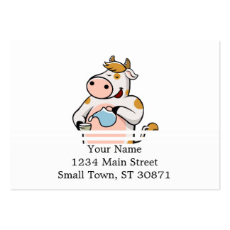 cow drinking milk large business card