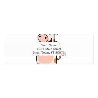 cow drinking milk mini business card