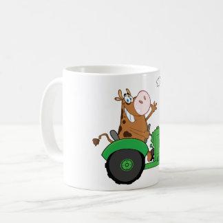 Cow Driving A Tractor Coffee Mug