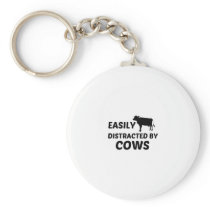 COW EASILY DISTRACTED KEYCHAIN