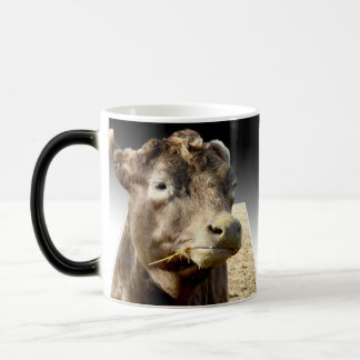 Cow Eating Hay Popout Art, Magic Morph Mug