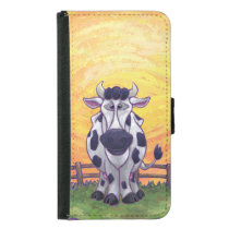 Cow Electronics Wallet Phone Case For Samsung Galaxy S5