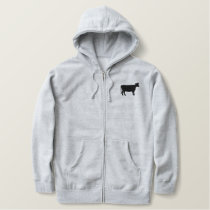COW EMBROIDERED HOODIE