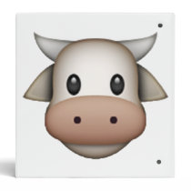 Cow - Emoji 3 Ring Binder