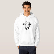 Cow Face cow farmer gifts Hoodie