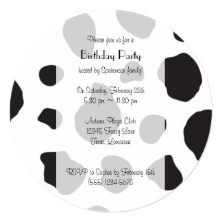 Cow Face, Cow Nose, Cow Spots - Pink Black White Card