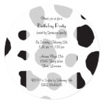 Cow Face, Cow Nose, Cow Spots - Pink Black White 5.25x5.25 Square Paper Invitation Card