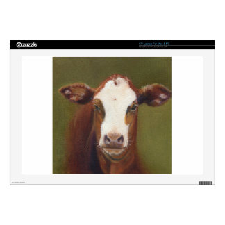 Cow Face Laptop Skins