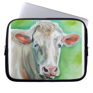 Cow face laptop sleeve
