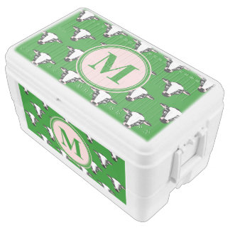 Cow Face Pattern with Customisable Monogram Chest Cooler