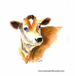cow face photo sculpture