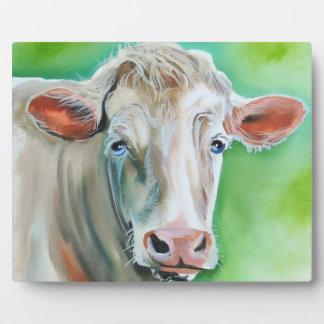 Cow face plaque