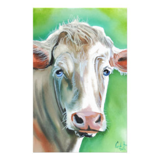 Cow face stationery