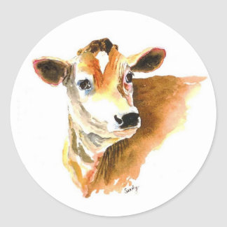 cow face stickers