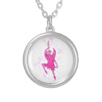 Cow Fairy Silver Plated Necklace