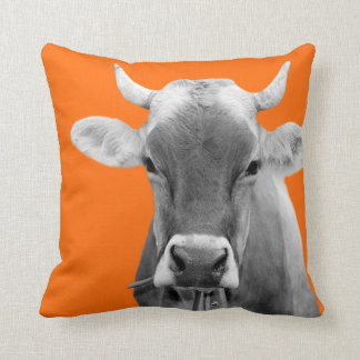 Cow farm animal livestock bovine cattle photo throw pillow