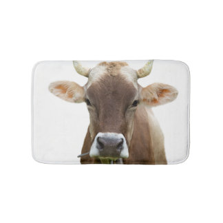 Cow farm animal modern cute photo bath mat