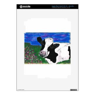 Cow, Farm, Animal, rural, hand painted calf. Skin For iPad 3