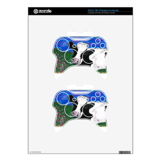 Cow, Farm, Animal, rural, hand painted calf. Xbox 360 Controller Skins