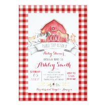 cow farm baby shower invitation re girl