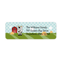Cow Farm Barn Return Address Labels