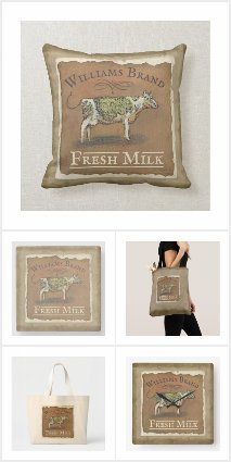 Cow Farmhouse Family Monogram