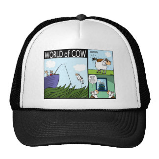 Cow Fishing, Constipation, and Fly Art Mesh Hat