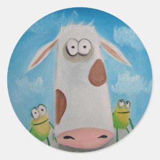 COW FROGS Gordon Bruce Classic Round Sticker