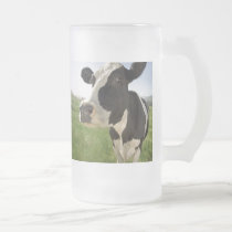 COW FROSTED GLASS BEER MUG