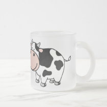 Cow Frosted Glass Coffee Mug