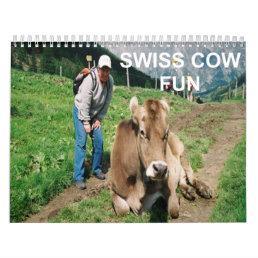 COW FUN COVER CALENDAR