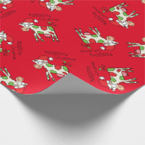 Cow Funny Cartoon Christmas Holiday Wrapping Paper